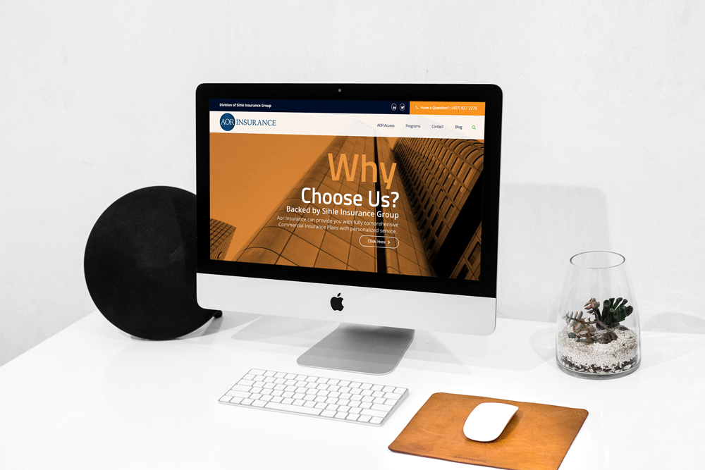 Website design for an insurance company