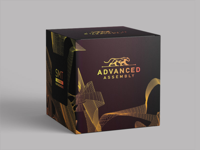 Box design for a circuit board manufacturing company.